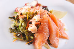 Seafood salad with Asian-style Stock Image