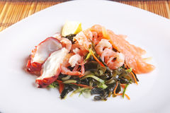 Seafood salad with Asian-style Stock Photography