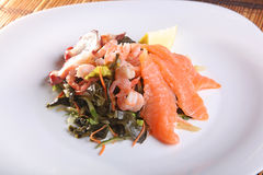 Seafood salad with Asian-style Stock Images