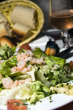 Seafood salad bonifacio corsica france Royalty Free Stock Photos