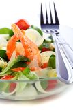 Seafood salad with green leaf,cherry tomato and ch Stock Photography
