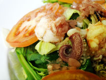 Seafood salad italian dressing Royalty Free Stock Images
