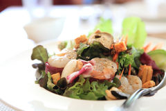Seafood salad with Japanese sauce Royalty Free Stock Image