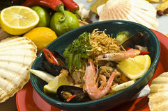 Seafood salad Mexican style Royalty Free Stock Image