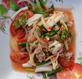 Seafood Salad Mix Stock Photo