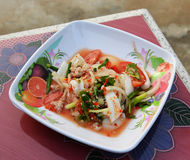 Seafood Salad Mix Royalty Free Stock Images