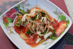 Seafood Salad Mix Stock Photos