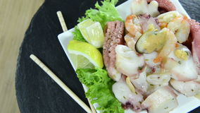 Seafood Salad (not loopable) Royalty Free Stock Image