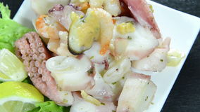 Seafood Salad (not loopable) Royalty Free Stock Photography