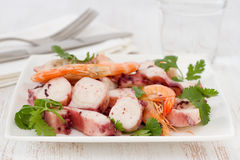 Seafood salad with parsley Stock Photo
