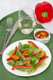 Seafood salad with pepper Stock Images