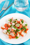 Seafood salad on the plate Royalty Free Stock Image