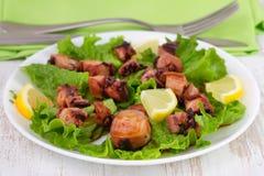 Seafood salad on the plate Stock Photos