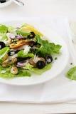 Seafood salad on plate Stock Photos