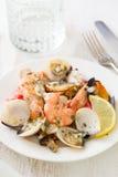 Seafood salad on plate Stock Photography