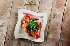 Seafood Salad Plate Royalty Free Stock Photography