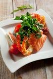Seafood Salad Plate Stock Photo