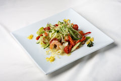 Seafood salad with shrimps Royalty Free Stock Image