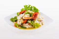 Seafood salad spicy food Stock Photo