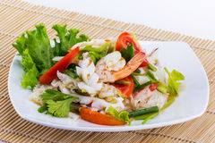 Seafood salad spicy food Royalty Free Stock Photos