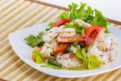 Seafood salad spicy food Stock Photography