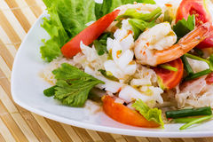Seafood salad spicy food Royalty Free Stock Photo