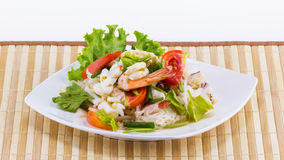 Seafood salad spicy food Stock Images