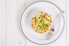 Seafood salad with squid Royalty Free Stock Images