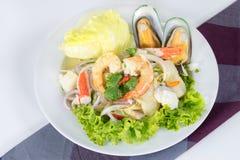 Seafood Salad, thai call Stock Photo