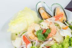 Seafood Salad, thai call Royalty Free Stock Photos