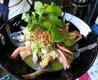 Seafood salads Stock Image