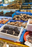 Seafood for sale at the Noryangjin Fish Market in Seoul Stock Photos