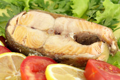 Seafood with salmon Royalty Free Stock Photos
