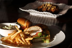 Seafood sandwich Stock Photography