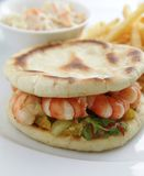 Seafood sandwich Royalty Free Stock Image