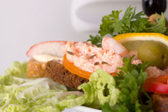 Seafood sandwich Royalty Free Stock Images