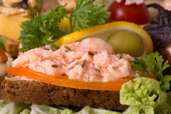Seafood sandwich Royalty Free Stock Photo