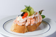 Seafood sandwich Stock Photo