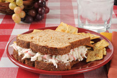 Seafood sandwich Royalty Free Stock Photos