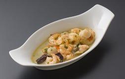 Seafood sauce. Tasty seafood sauce for pasta Stock Photos