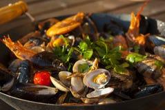 Seafood sautè Stock Image