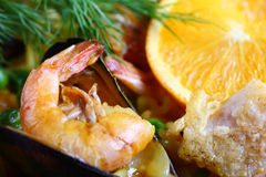 Seafood scampi Royalty Free Stock Images