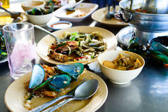 Seafood scraps on a plate Stock Photography