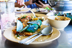 Seafood scraps on a plate Stock Image