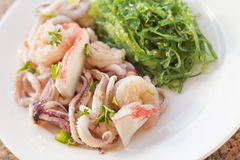 Seafood Seaweed Salad Royalty Free Stock Photography