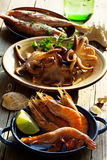 Seafood selection Stock Image
