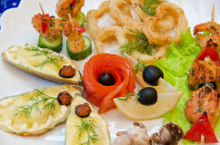 Seafood set Stock Images