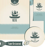 Seafood set. Set of elements for the design of the fish restaurants Stock Photos