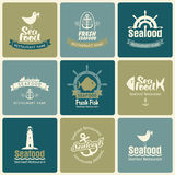 Seafood set Stock Photography