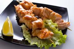 Seafood shashlik Stock Image